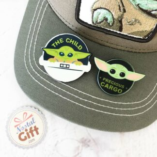 Set de 2 badges Bébé Yoda - The Mandalorian