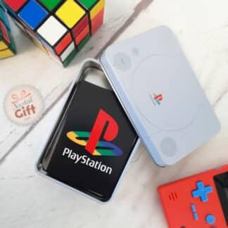 Playstation - Boite en métal contenant un jeu de 54 cartes