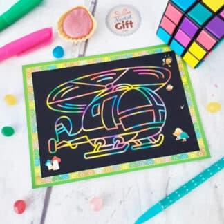 Carte à gratter/ coloriage