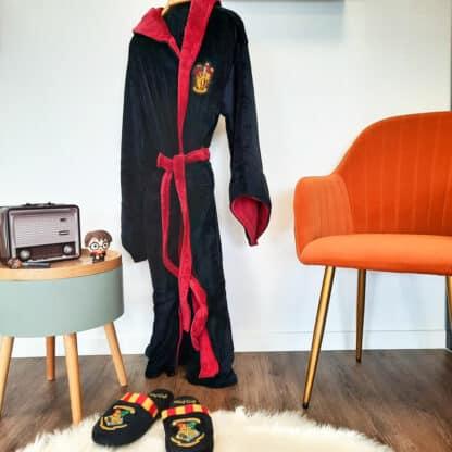 Harry Potter Peignoir femme avec capuche - Logo Gryffondor