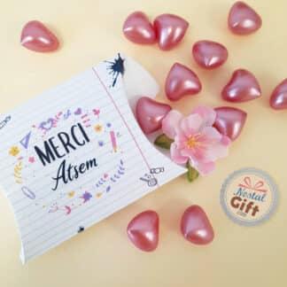 """Boîte """"Je t'aime maman"""" - Perle de bain senteur rose x 12 - Cadeau maman"""
