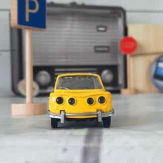 Miniature voiture vintage - Renault 8 Gordini jaune (échelle 1:43)