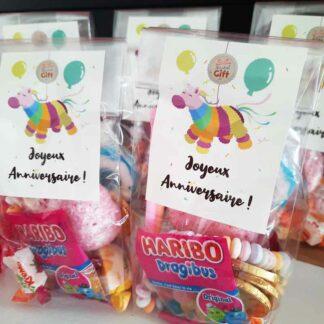 5 sachets de bonbons -  Joyeux Anniversaire - Licorne