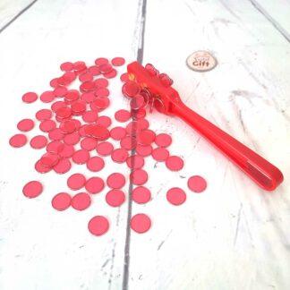 Bâton magnétique trèfle avec 100 jetons pour loto