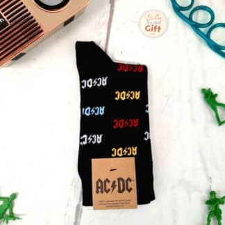 AC/DC - Chaussettes noires en coton