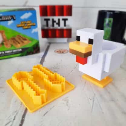 Minecraft - Kit Coquetier et emporte-pièces pour toast