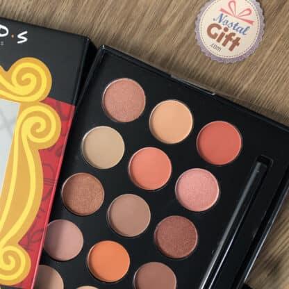 Palette d'ombres à paupières pour maquillage (avec miroir et pinceau) - Friends