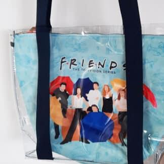 Friends - Sac transparent bleu
