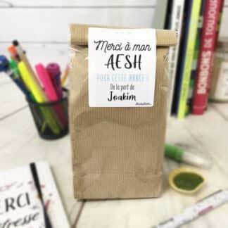 Sachet de bonbons personnalisé années 80 - Cadeau AESH