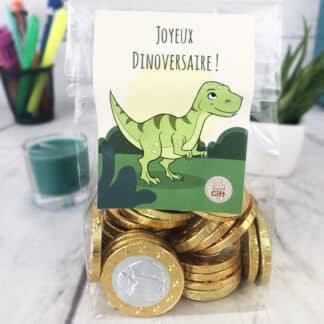 Sachet de 30 pièces en chocolat - Joyeux Dinoversaire
