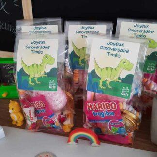 5 sachets de bonbons personnalisés - Joyeux Dinoversaire