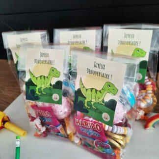 5 sachets de bonbons - Joyeux Dinoversaire