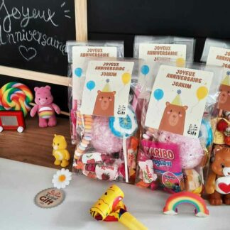 5 sachets de bonbons personnalisés - Anniversaire enfant - Ours