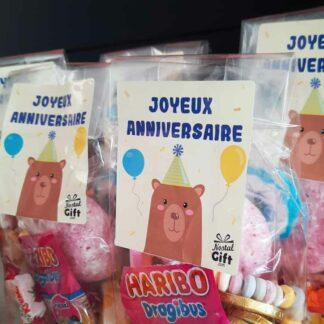 5 sachets de bonbons - Anniversaire enfant - Ours