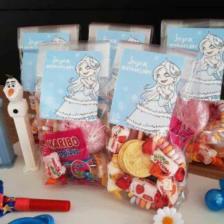 5 sachets de bonbons - Joyeux anniversaire princesse des neiges