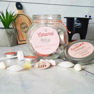Bocal de 24 bougies chauffe-plat parfumés