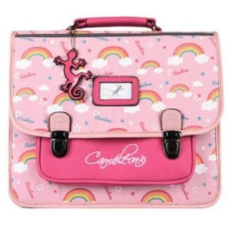 Cartable Fille 35 cm rétro rose arc-en-ciel -Cameleon - Pink Rainbow - Maternelle et CP