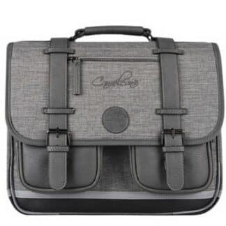 Cartable gris rétro 38 cm - Cameleon - Totally Grey - CP, CE1, CE2
