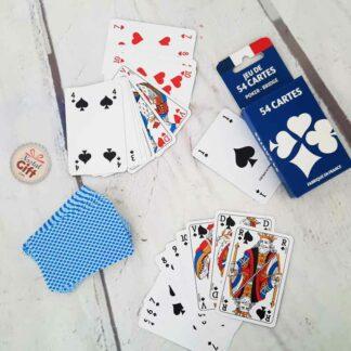 Jeu de 54 cartes à jouer classique