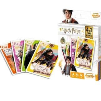 Harry Potter - Jeu de cartes 4 en 1 - Jeu de 7 familles, jeu de paires, jeu d'action et jeu de bataille