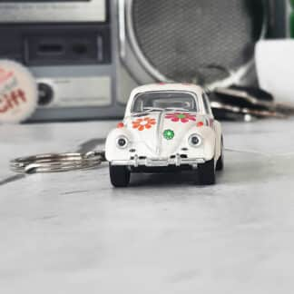 Porte clef voiture Volkswagen Beetle classique 1967 Peace & Love