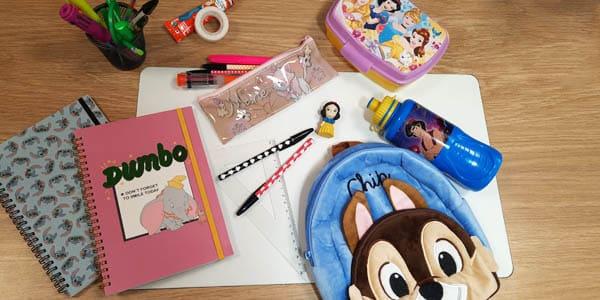 Une rentrée scolaire féérique avec tous nos produits sous licence Disney c'est possible sur Nostalgift.com !