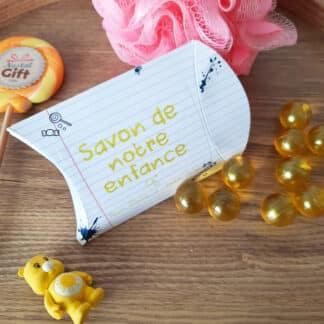 Savon de notre enfance - Perle de bain senteur verveine et citron x 12