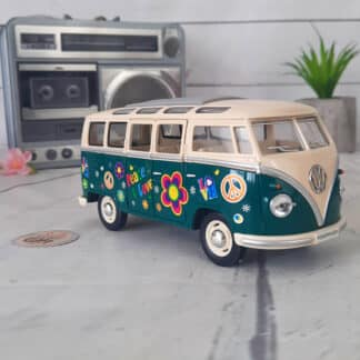 Miniature Volkswagen Bus T1 de 1962 - Peace and Love  (16,5 cm)