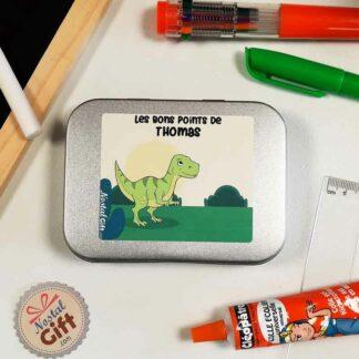 Boîte à bons points personnalisée - Dinosaure