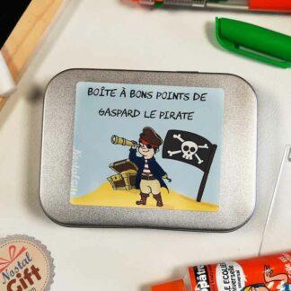 Boîte à bons points personnalisée - Pirate
