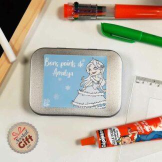 Boîte à bons points personnalisée - Princesse des neiges