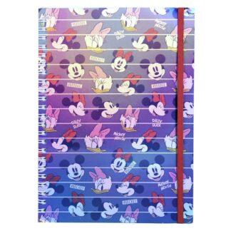 Disney - Carnet A5 holographique Minnie, Daisy et Mickey