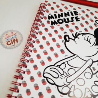 Disney - Carnet A5 à pois Minnie Mouse