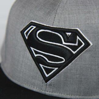 Superman - Casquette noire et grise brodée
