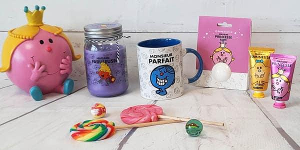 Retrouvez notre collection de produits Monsieur Madame. Mugs, bougies, trousses de toilette, crèmes pour les mains, tout y est pour vous faire replonger dans l'univers de ces drôles de personnage !