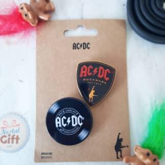 AC/DC - Lot de 2 broches - Bouclier et disque