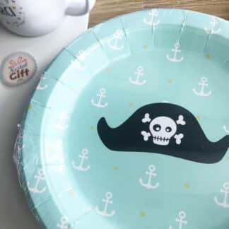 8 assiettes en carton Pirate