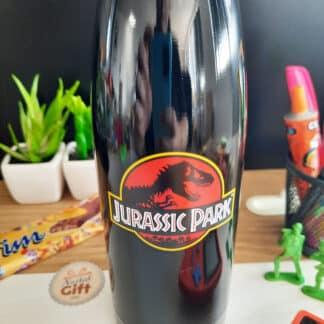 Jurassic Park - Bouteille d'eau noire en acier inoxydable