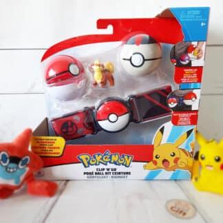 Pokémon - Ceinture Pokéball noir Pikachu