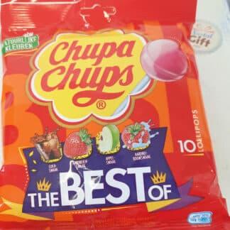 Chupa Chups - Sachet Best of de 10 sucettes - 120 grammes