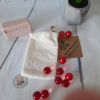 Sachet savon naturel 100% biodégradable en ramie