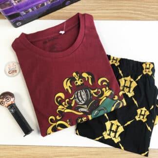 Harry Potter - Ensemble de pyjamas short Poudlard pour enfant