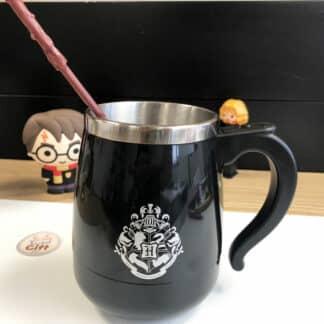 Harry Potter - Mug avec baguette mélangeuse automatique