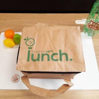 Sac de déjeuner isotherme en kraft - La vie en vert