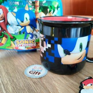 Sonic - Mug Pixel,Tails et Amy Rose