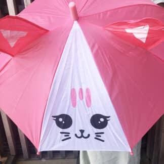 Parapluie animaux pour enfant - Chat rose