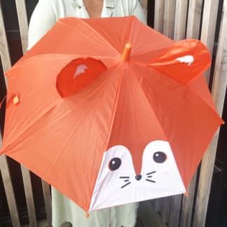 Parapluie animaux pour enfant - Renard orange