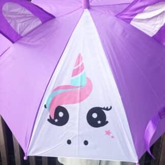 Parapluie animaux pour enfant - Licorne violette