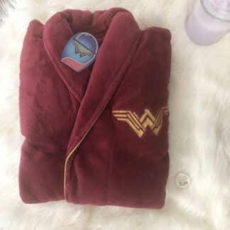 Wonder Woman - Peignoir Bordeaux Femme