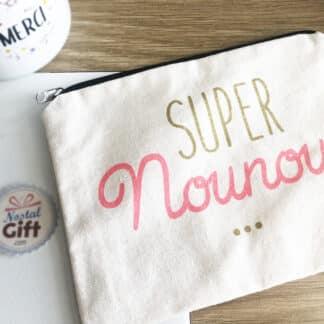 Pochette Trousse - Super nounou (14 cm)